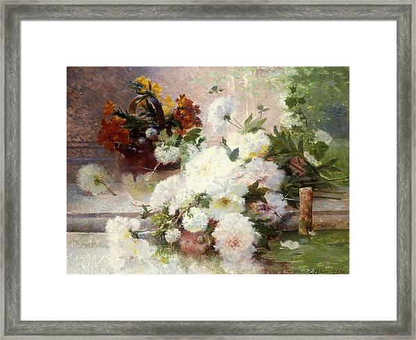 A Still Life With Autumn Flowers Framed Print