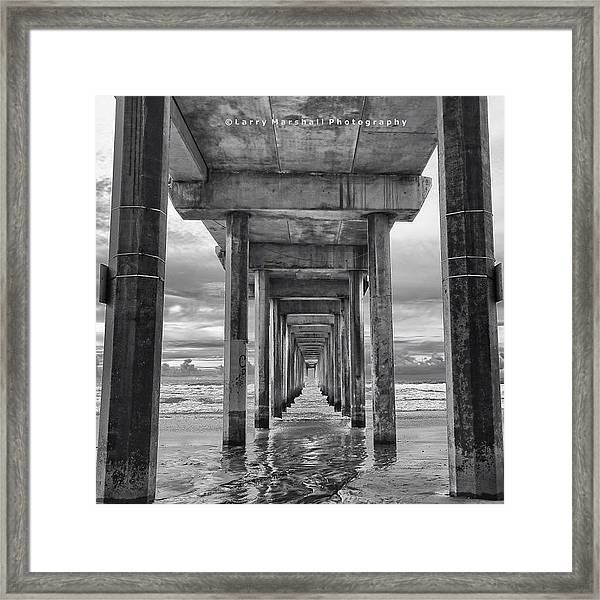 A Stormy Day In San Diego At The Framed Print
