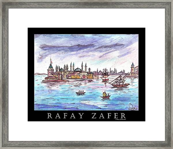 A Story Of Istanbul Framed Print