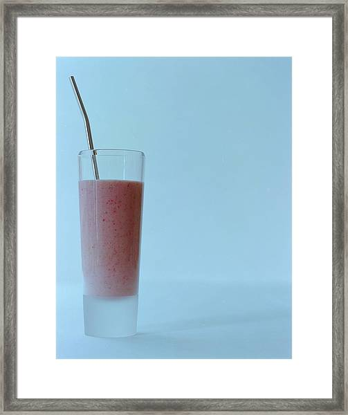 A Strawberry Flavored Drink Framed Print
