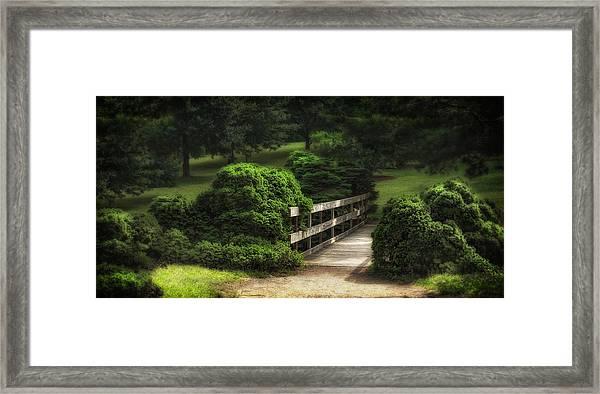 A Stroll Through The Park Framed Print