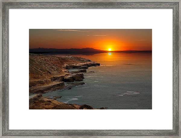 A Sunset Framed Print