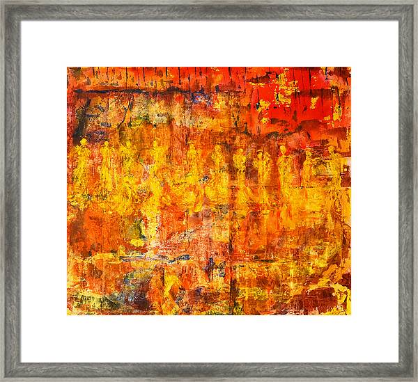 A Sunset Of Angels Framed Print