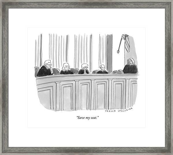 A Supreme Court Judge Gets Framed Print