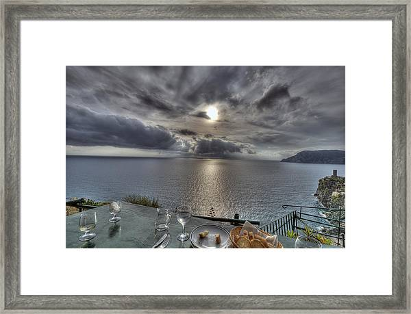 A Table With A View Framed Print