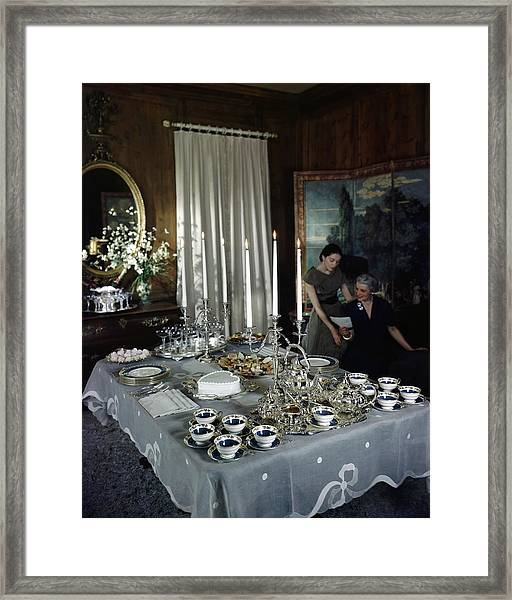 A Tea Service Framed Print by John Rawlings