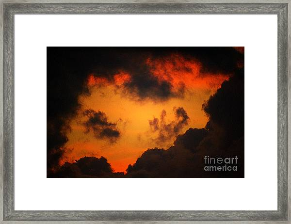 A Textured Morning Framed Print