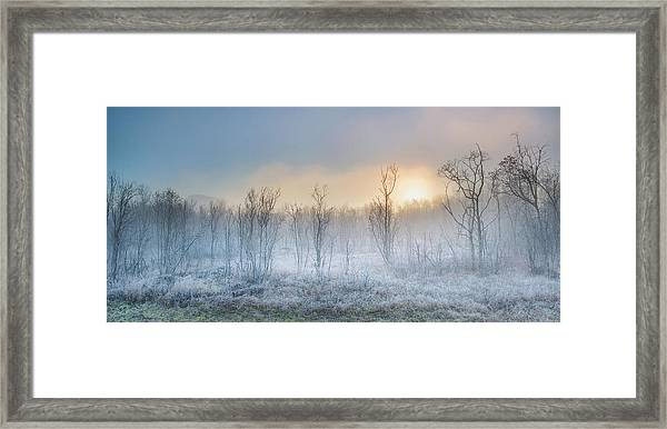 A Touch Of Winter Framed Print by Burger Jochen