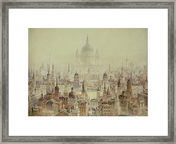 A Tribute To Sir Christopher Wren Framed Print