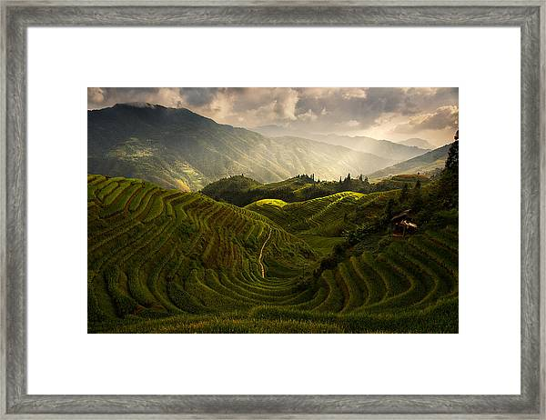 A Tuscan Feel In China Framed Print