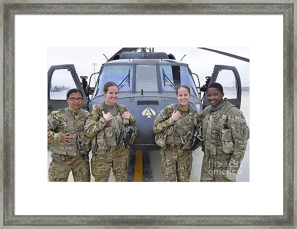 A U.s. Army All Female Crew Framed Print