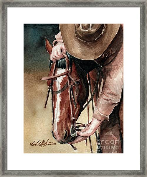 A Useful Horse Framed Print