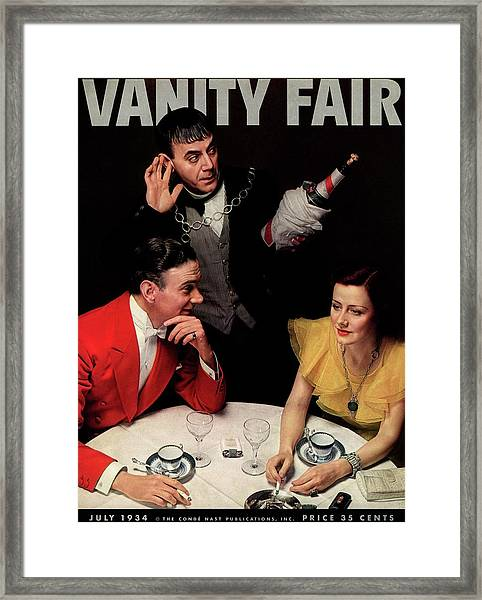 A Vanity Fair Cover Of Celebrities Framed Print