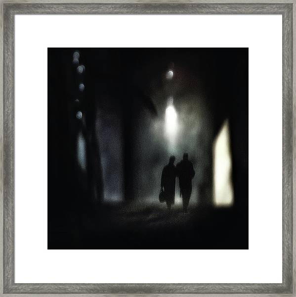 A Very Long Walk Together Framed Print by Piet Flour