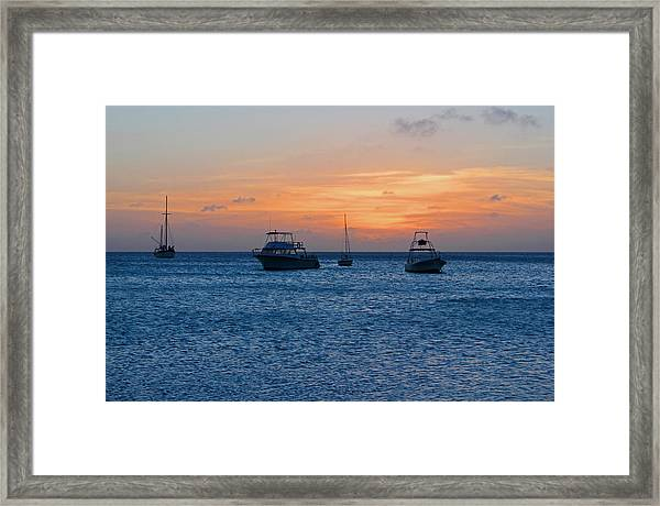 A View From A Catamaran2 - Aruba Framed Print