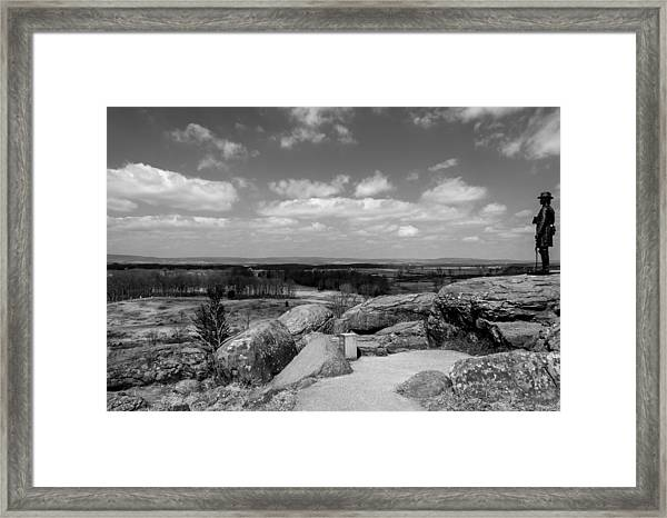 A View From Little Round Top Framed Print