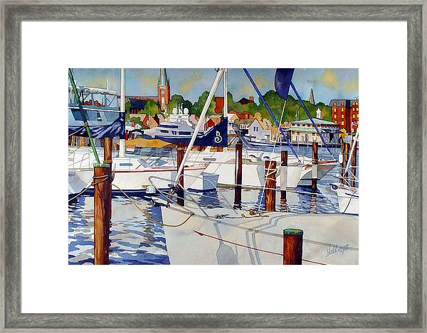 A View From The Pier Framed Print