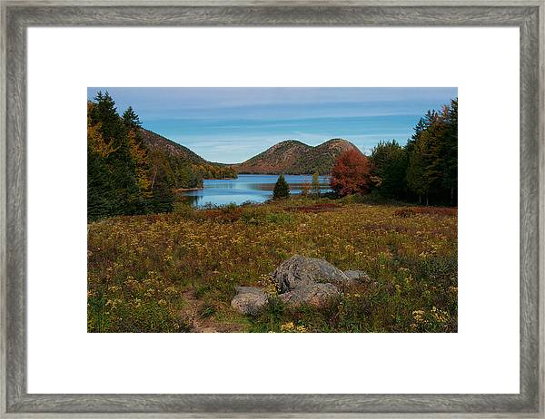 A View Of Jordan Pond Framed Print