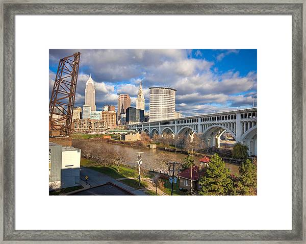 A View Of The City Framed Print