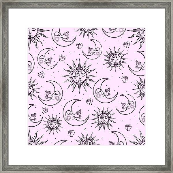 A Vintage Seamless Pattern That Framed Print