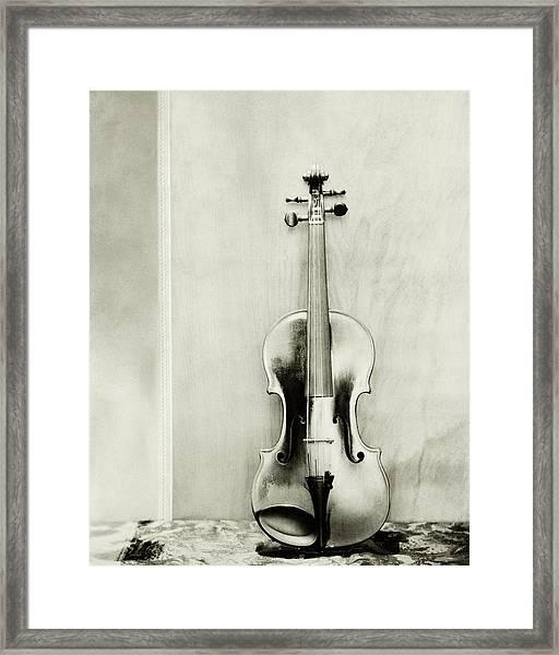 A Violin Framed Print by Edward Steichen