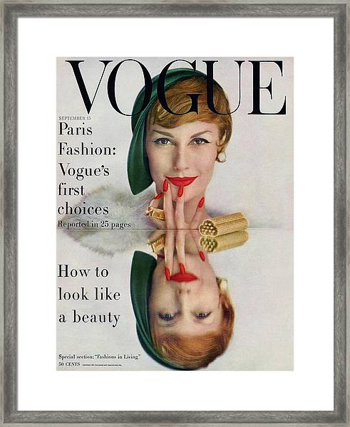 A Vogue Cover Of Mary Jane Russell Framed Print