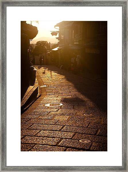 A Walk In Kyoto Framed Print