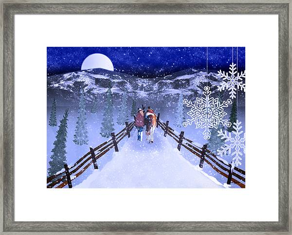 A Walk In The Snow 2 Framed Print
