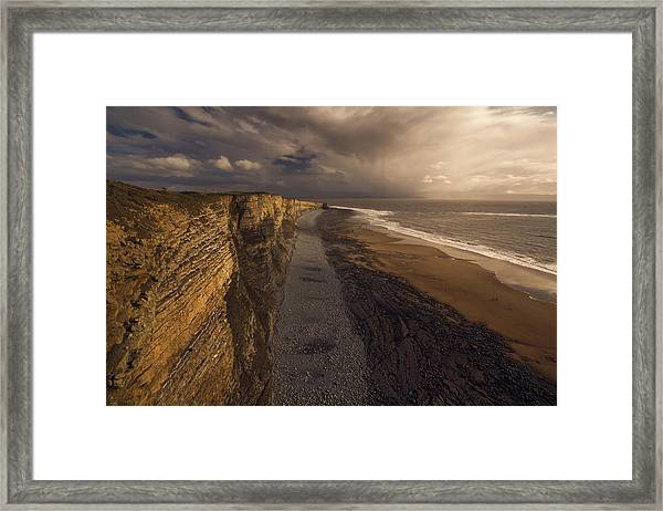 A Walk Framed Print by Milos Lach