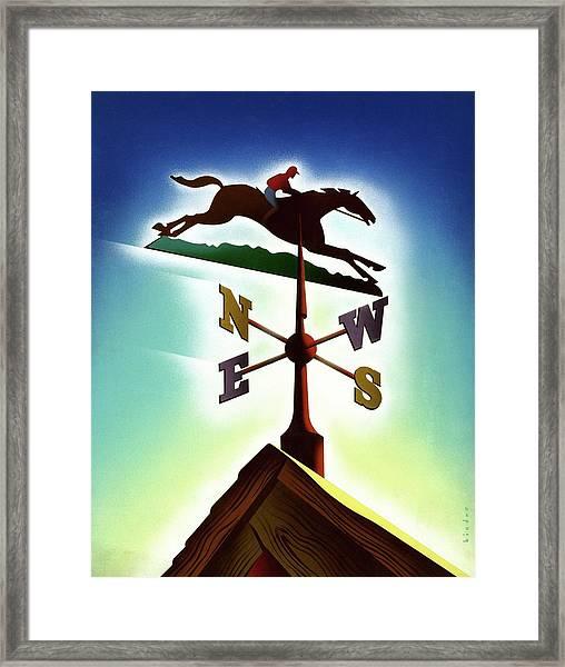 A Weather Vane Framed Print