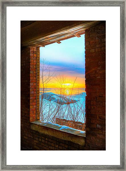 A Window To Lake Michigan  Framed Print by Michael  Bennett
