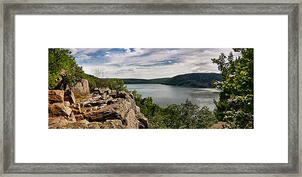 A Windy Day At Devil's Lake Framed Print