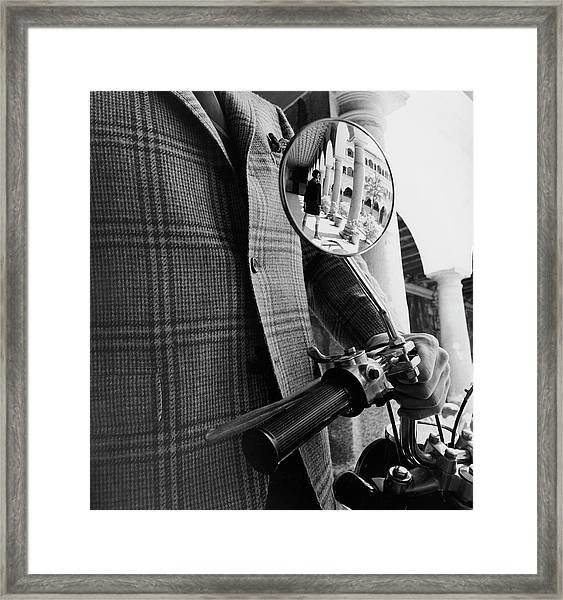 A Wing Mirror Framed Print