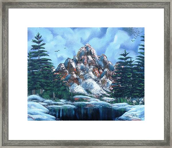 A Winter Day On Bald Mountain Framed Print