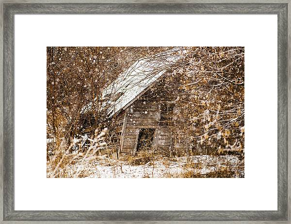 A Winter Shed Framed Print