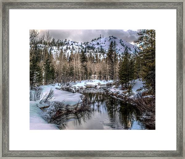 A Winters Peace Of Reflection Framed Print