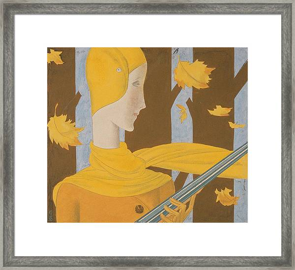 A Woman Holding A Rifle Framed Print by Eduardo Garcia Benito