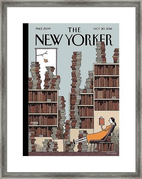 Fall Library Framed Print