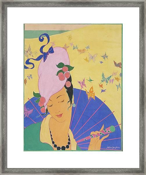 A Woman Wearing A Turban Framed Print