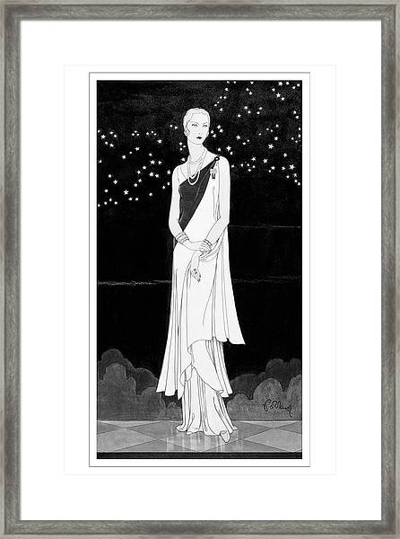 A Woman Wearing Reboux Framed Print