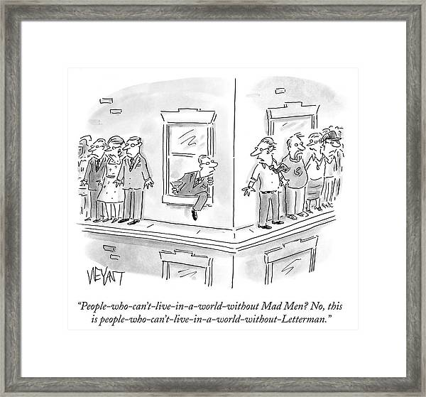 A World Without Letterman Framed Print