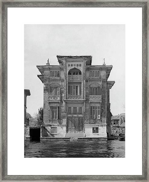 A Yali On Bosphorus River Framed Print