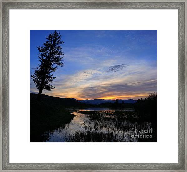 A Yellowstone Lake Before Sunrise Framed Print