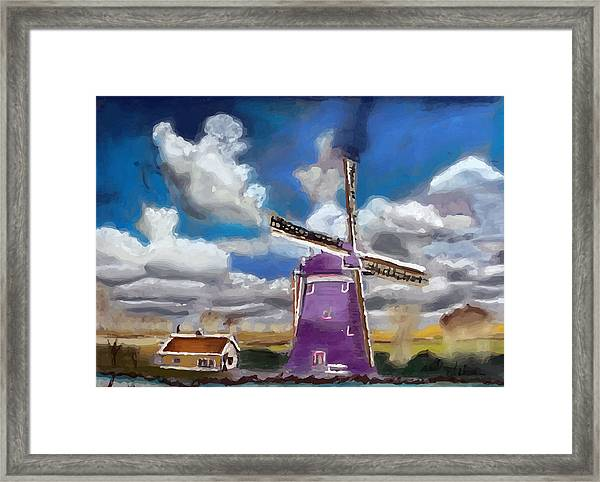 A20090813--dutch Wind Mill Framed Print