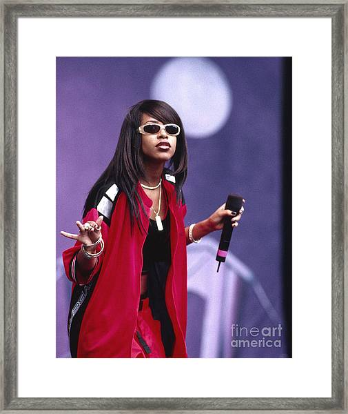 Aaliyah 1997 Framed Print by Chris Walter