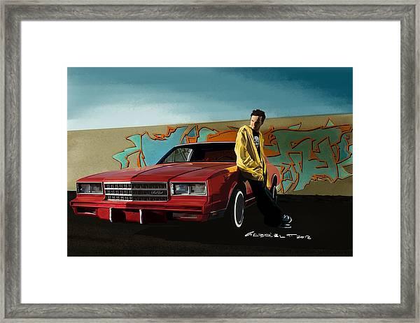 Aaron Paul As Jesse Pinkman @ Tv Serie Breaking Bad Framed Print