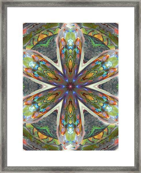 Abalone Christ Mandala Framed Print