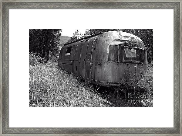 Abandoned Airstream In The Jungle Framed Print