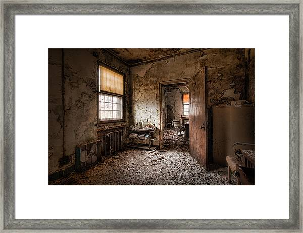 Abandoned Asylum - Haunting Images - What Once Was Framed Print