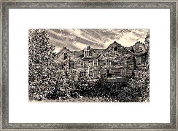 Abandoned But Awesome Framed Print